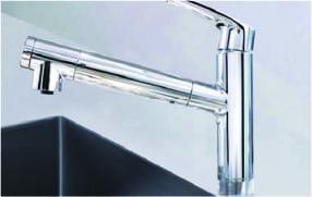 浄水機能付きスパウトイン複合水栓
